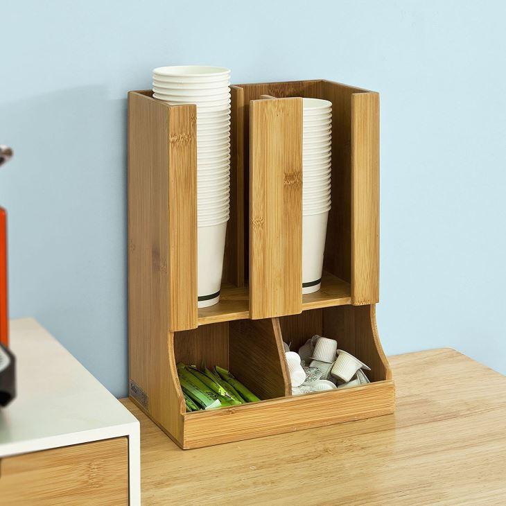 Bamboo Paper Cup Dispenser