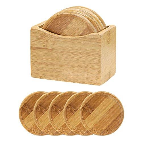 Bamboo Wood Coaster Set