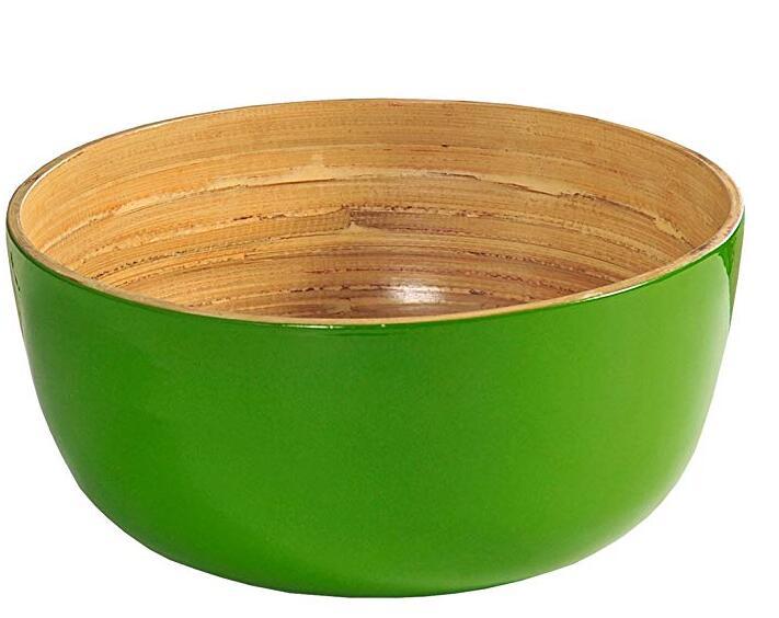 Green Bamboo Salad Bowl