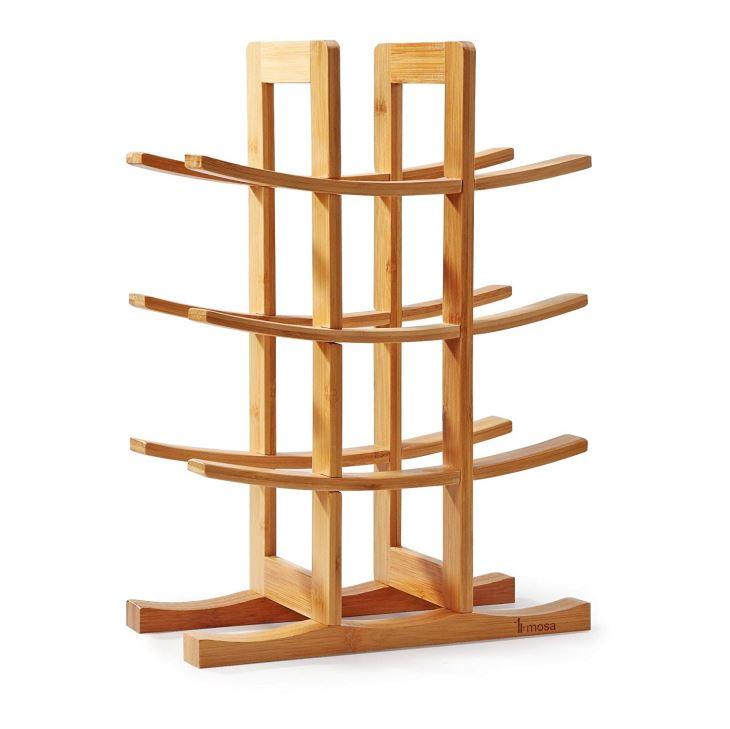 Natural Bamboo 12 Bottle Wine Rack