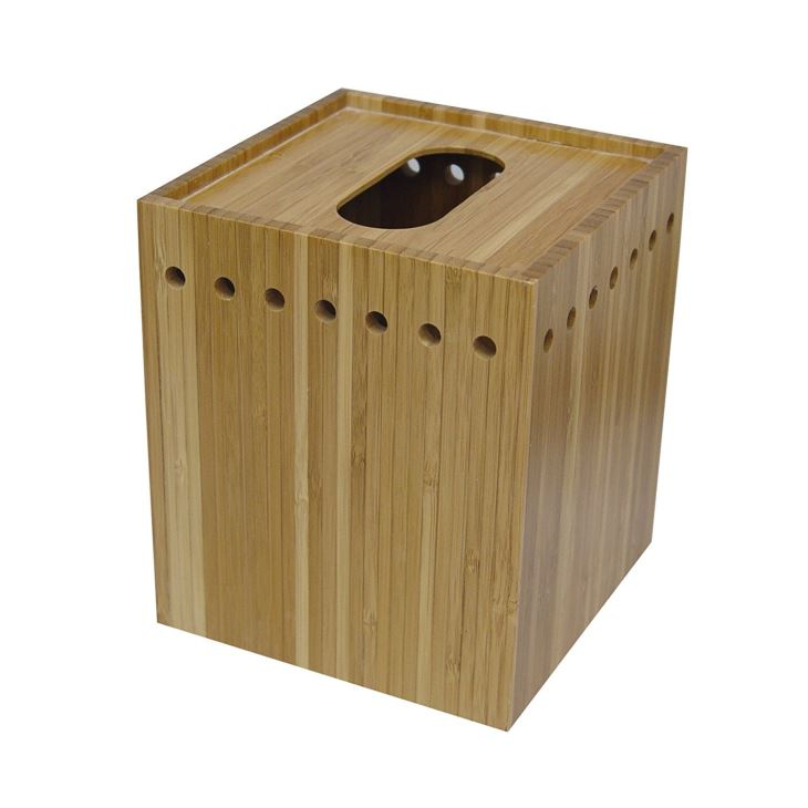 Natural Bamboo Tissue Box