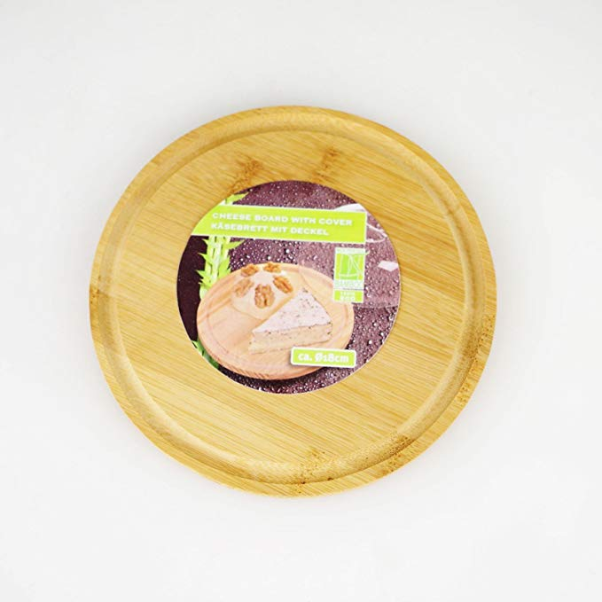 Round Bamboo Cheese Board With Plastic Cover