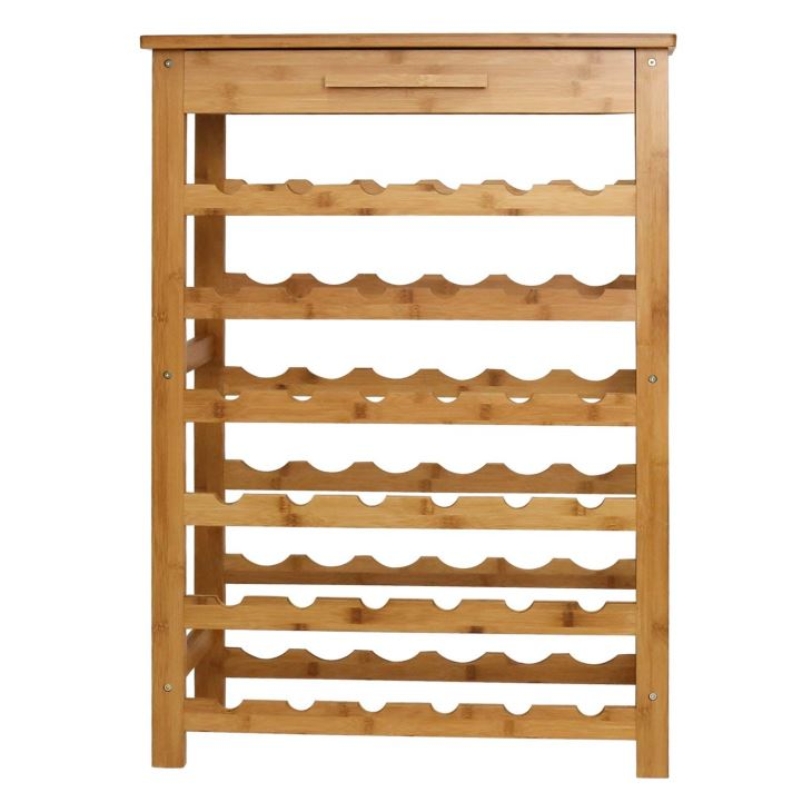Wine Standing Rack Storage With Drawer