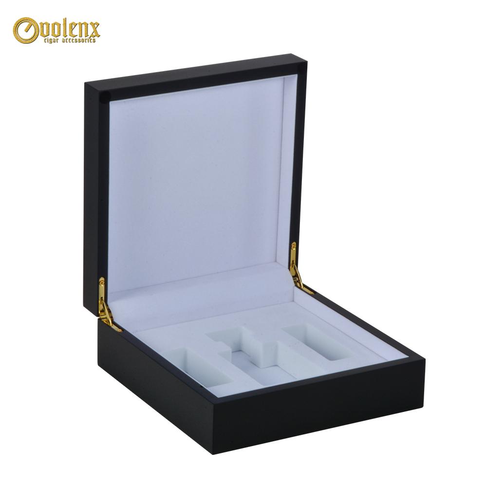 Black Custom Logo Wooden Luxury Perfume  Box 13