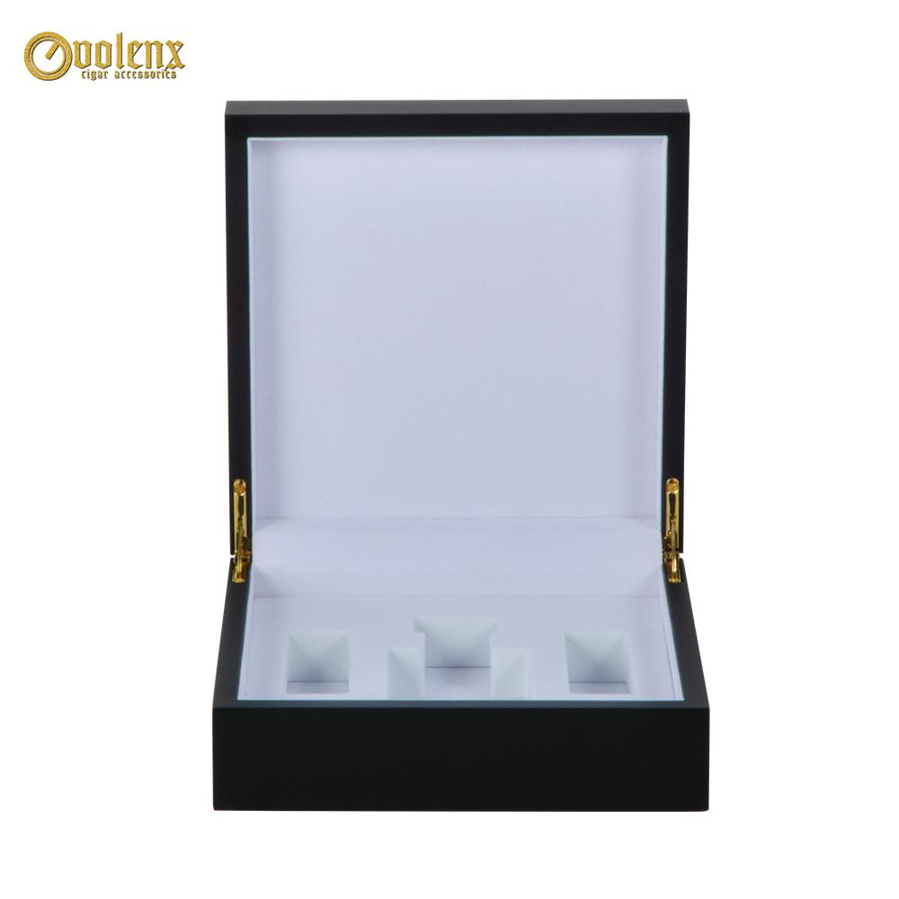 Black Custom Logo Wooden Luxury Perfume  Box 11