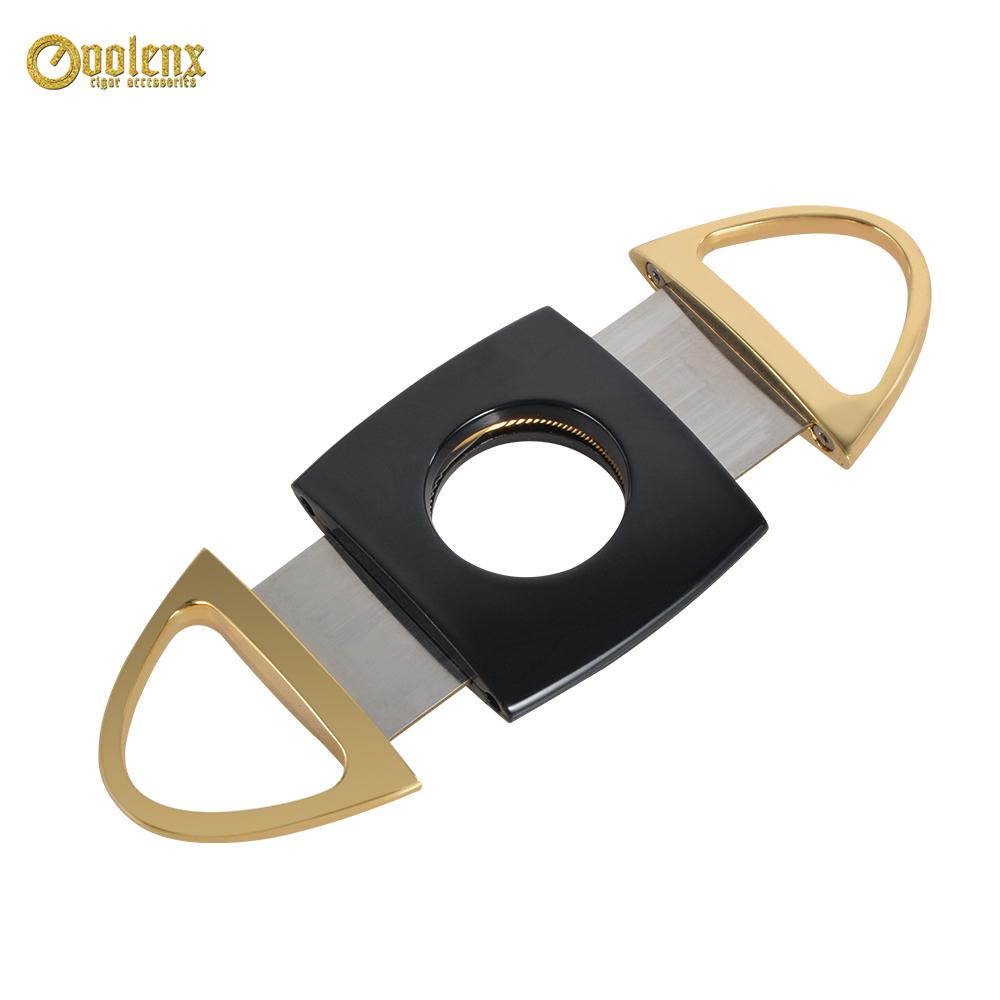 Custom Travel  Gold Stainless Steel Metal Sharp Cigar Cutter 4