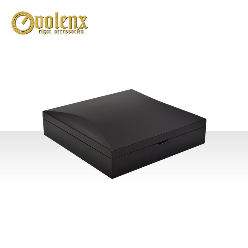 High quality high glossy black luxury jewelry box velvet 7