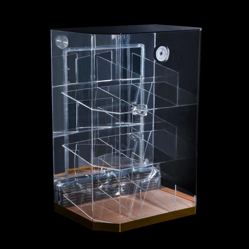 Custom Acrylic Cigar Display Cabinet with Hygrometer 6