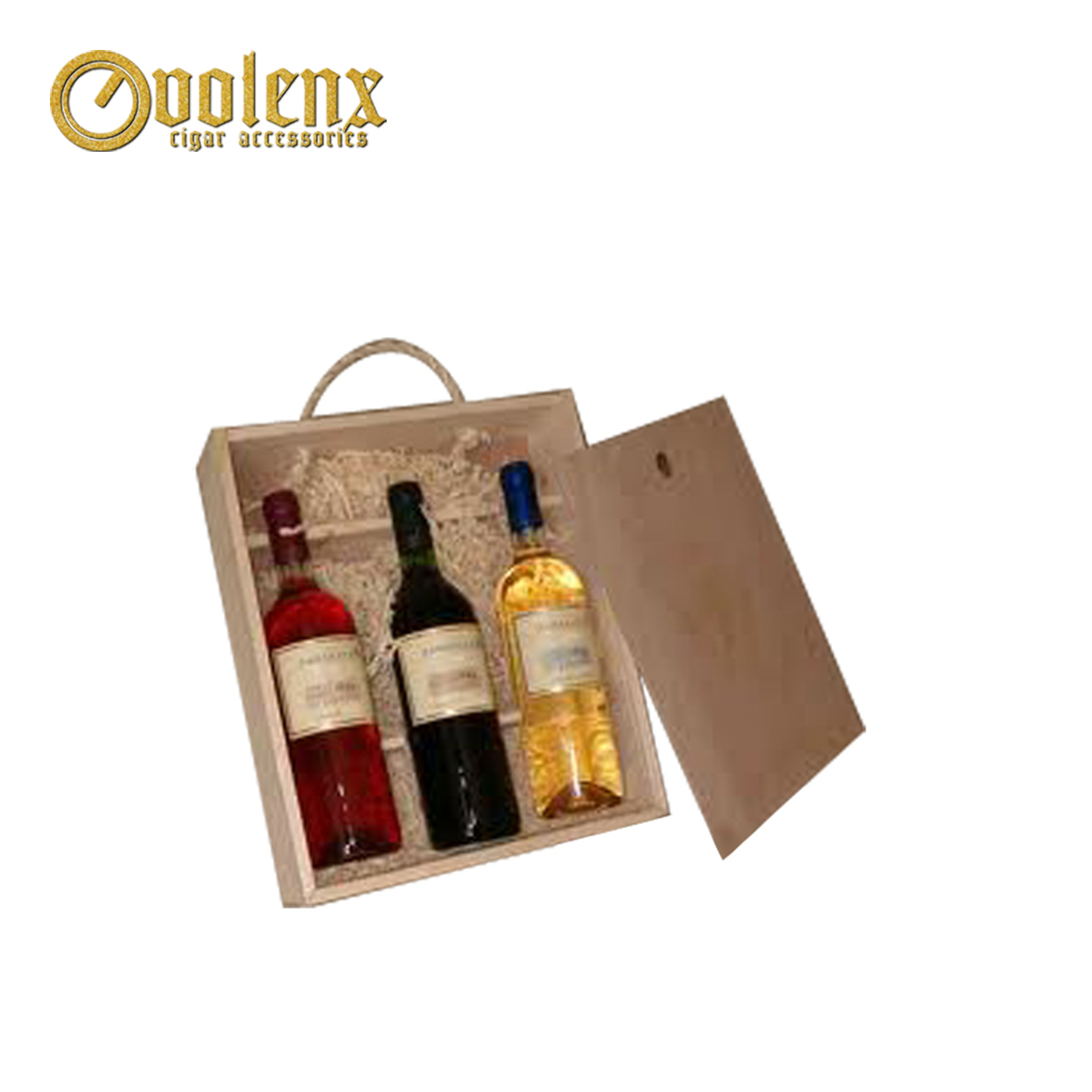 Wholesale luxury modern wooden wine packaging gift box