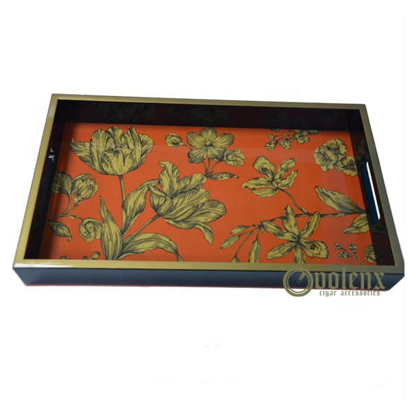 Customized Volenx Crafts Gifts Paint Wooden Tea Tray