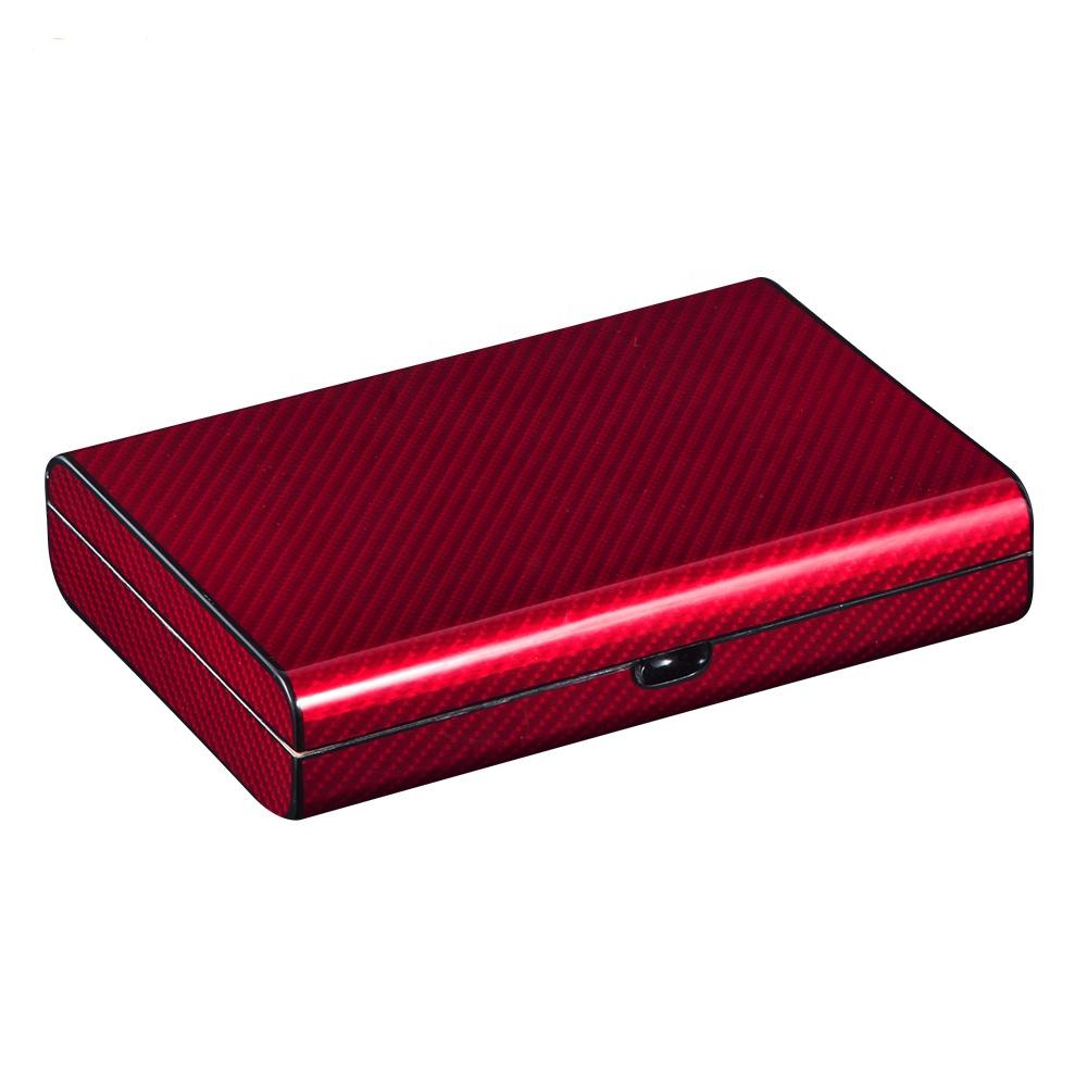 Custom Handmade Travel Red Mahogany Cigar Box
