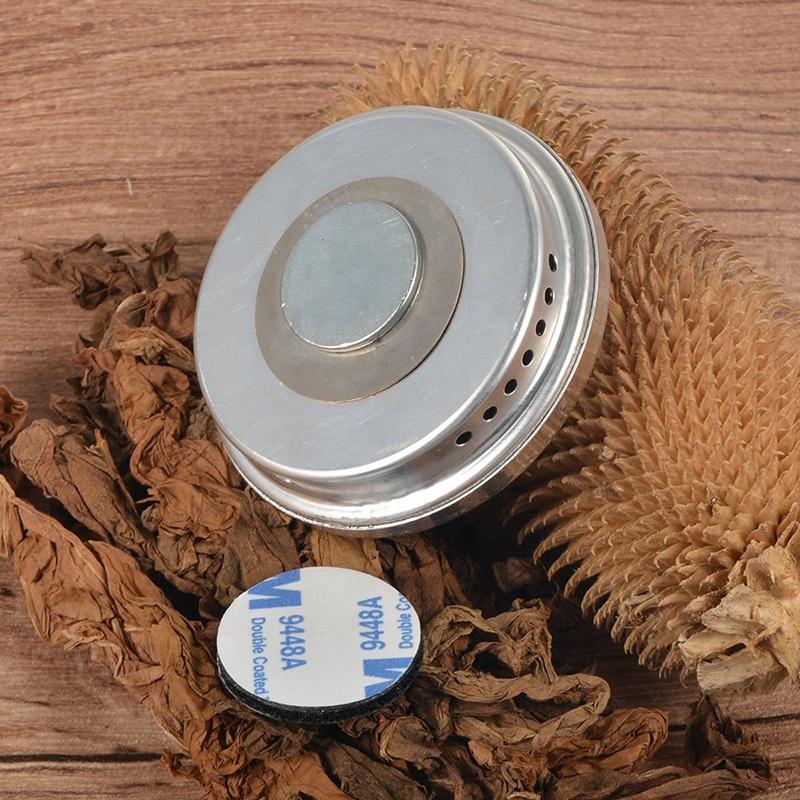 Premium-Grade-Volenx-Silver-Round-Cigar-Hygrometer