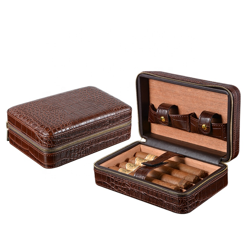 Portable-6CT-Cedar-Wood-Humidor-Leather-Travel