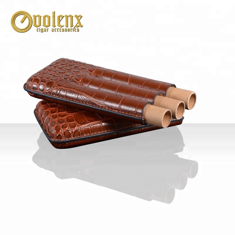 Custom-3-Tubes-Crocodile-Travel-Genuine-Leather