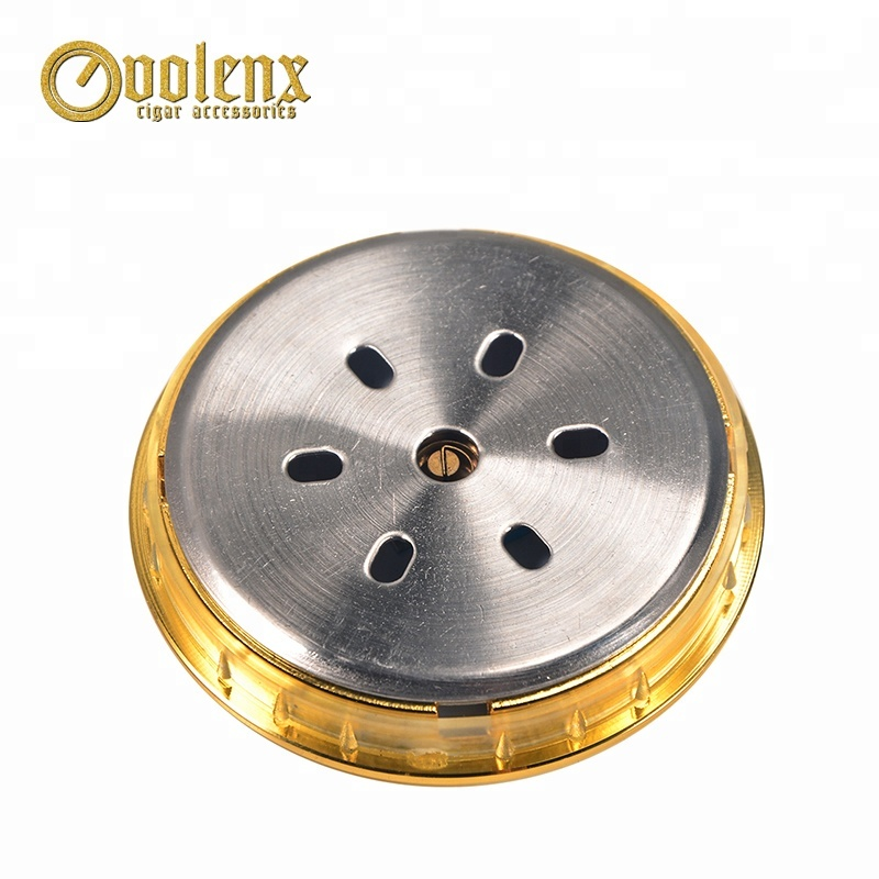 Gold-Metal-Round-Mini-Digital-Analog-Cigar