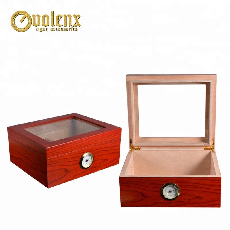 Custom Luxury Spanish Cedar Wooden Cigar Humidor Manufacturer