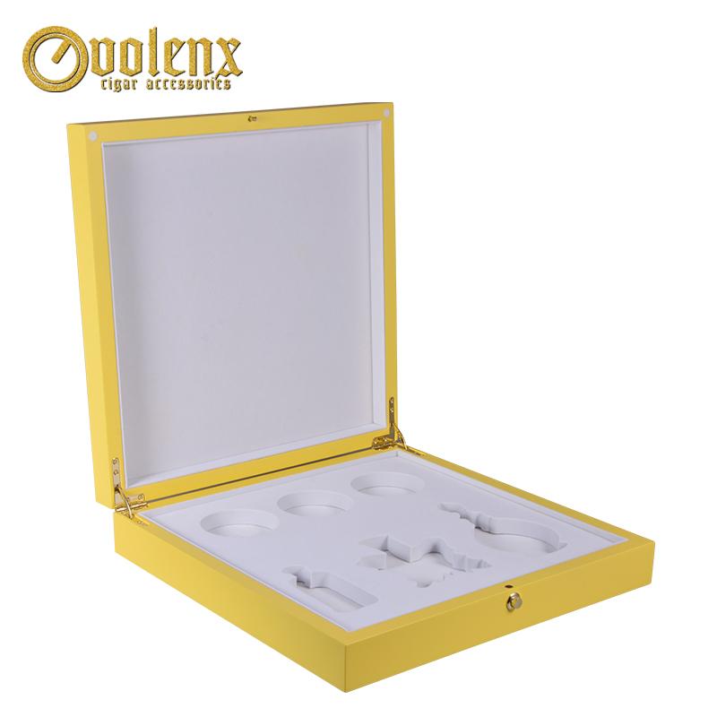 Custom Hollow Design Luxury Yellow Arabic Wood Perfume Box 6