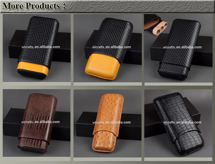 New PVC woodgrain design matt humidor parts portable cigar humidor
