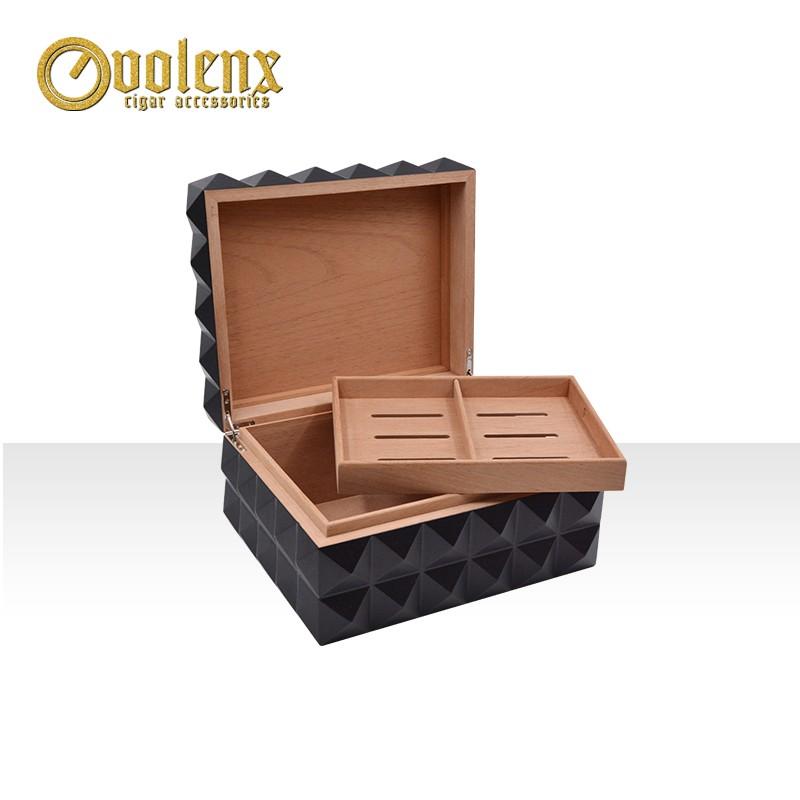 OEM design black matt finish custom logo luxury spanish cedar cigar box