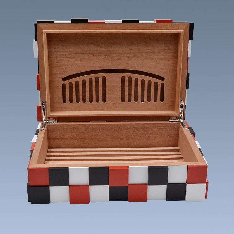 2018 Rubik's cube shape wooden modern cigar humidor for sale 13