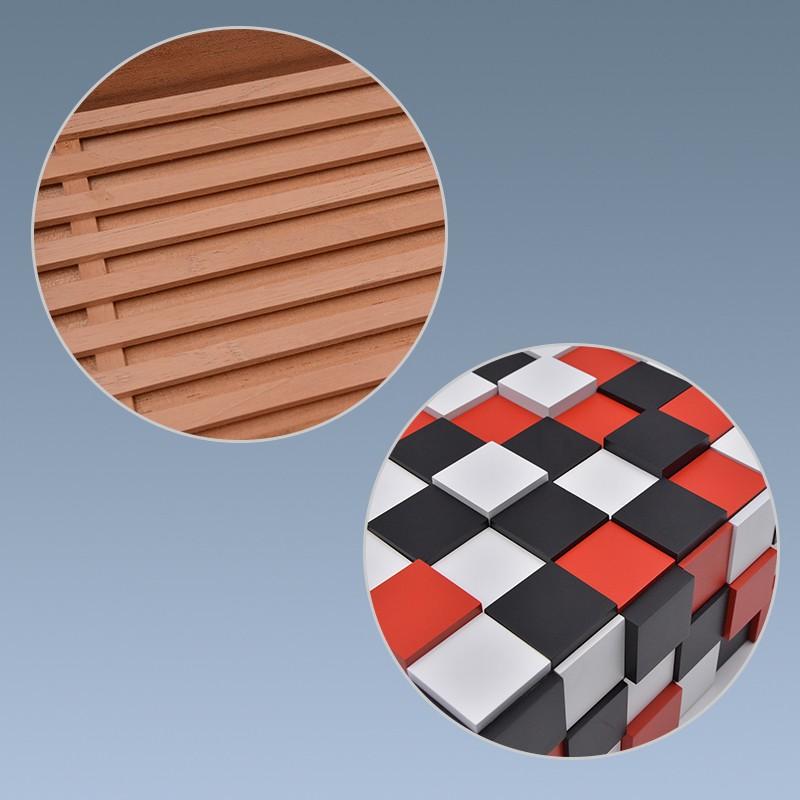 2018 Rubik's cube shape wooden modern cigar humidor for sale 11