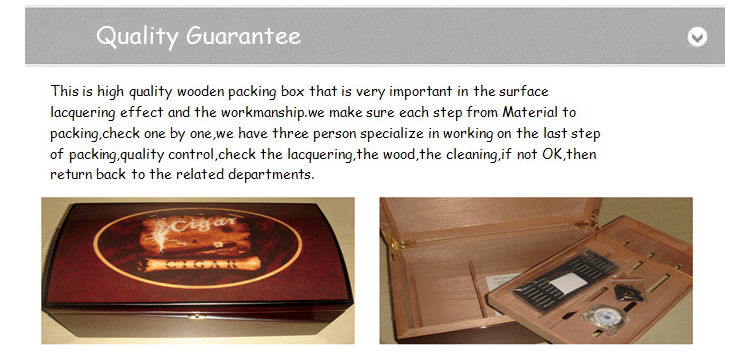High Quality wood boxes humidor 7