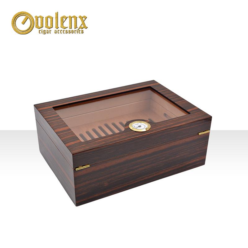 High-gloss-finish-handmade-wooden-cigar-humidor