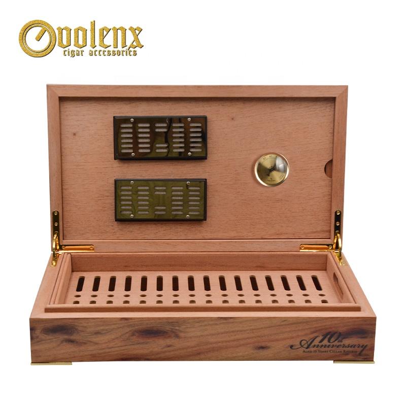 solid wooden cigar humidor