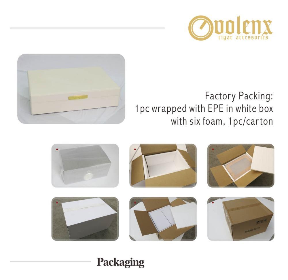 Design Cigar Boxes White High Glossy Cigar Boxes Wholesale Wooden Cigar Box