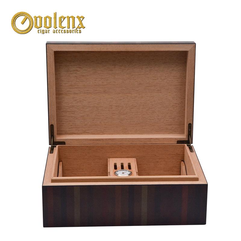 New Custom Luxury Travel Humidor Wooden Cedar Cigar humidor 7