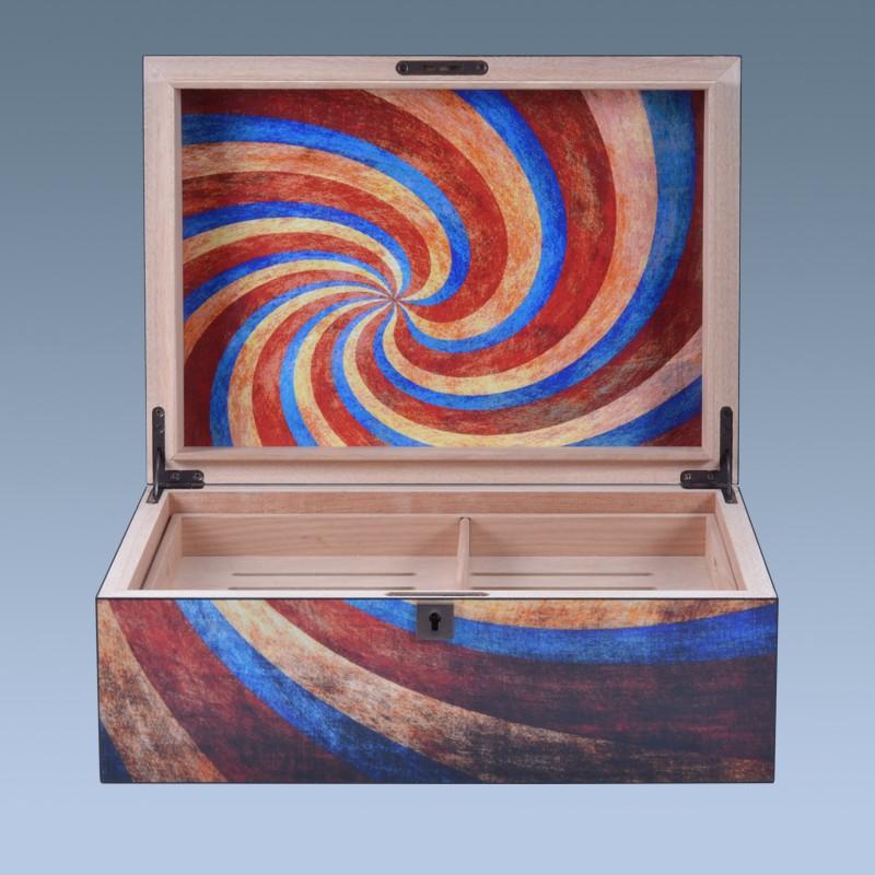 High quality custom unfinished PVC  wooden cigar humidors box