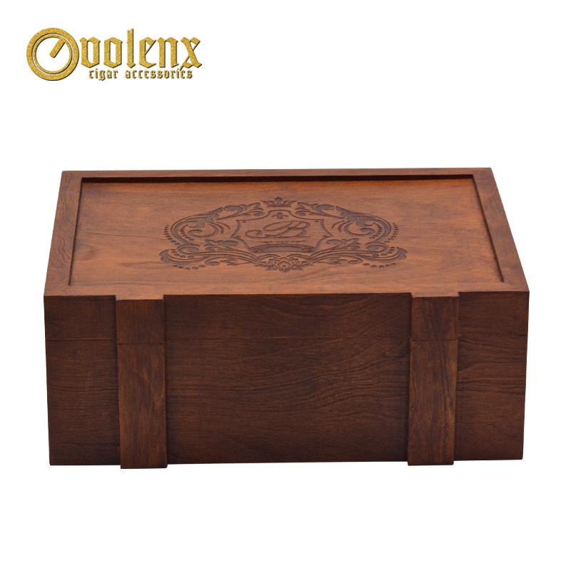 Custom humidor matt mahogany humidor wooden laser cigar box 4