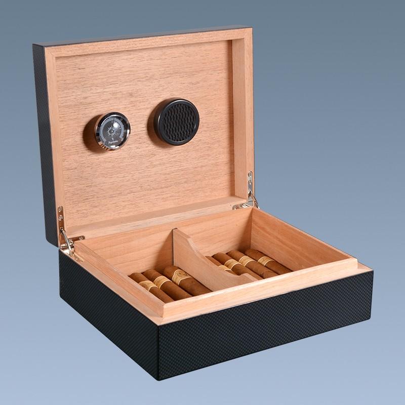 Cheap Wholesale Wood Carbon Fiber Display Cigar Box
