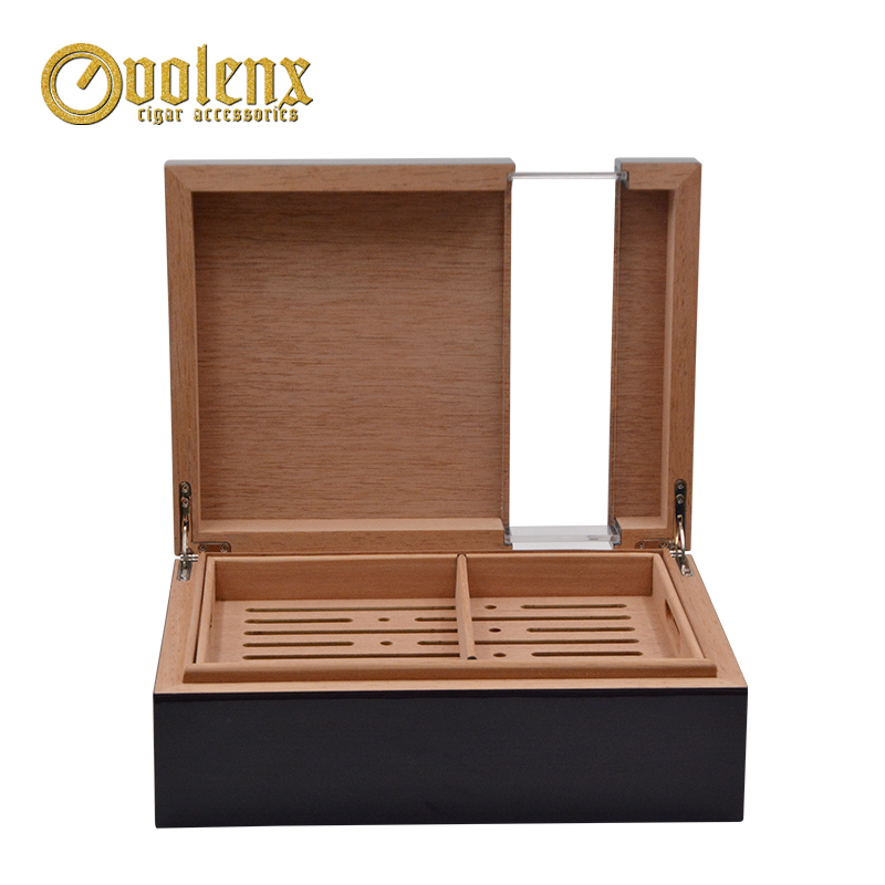 High-quality-50ct-acrylic-wood-cigar-humidor