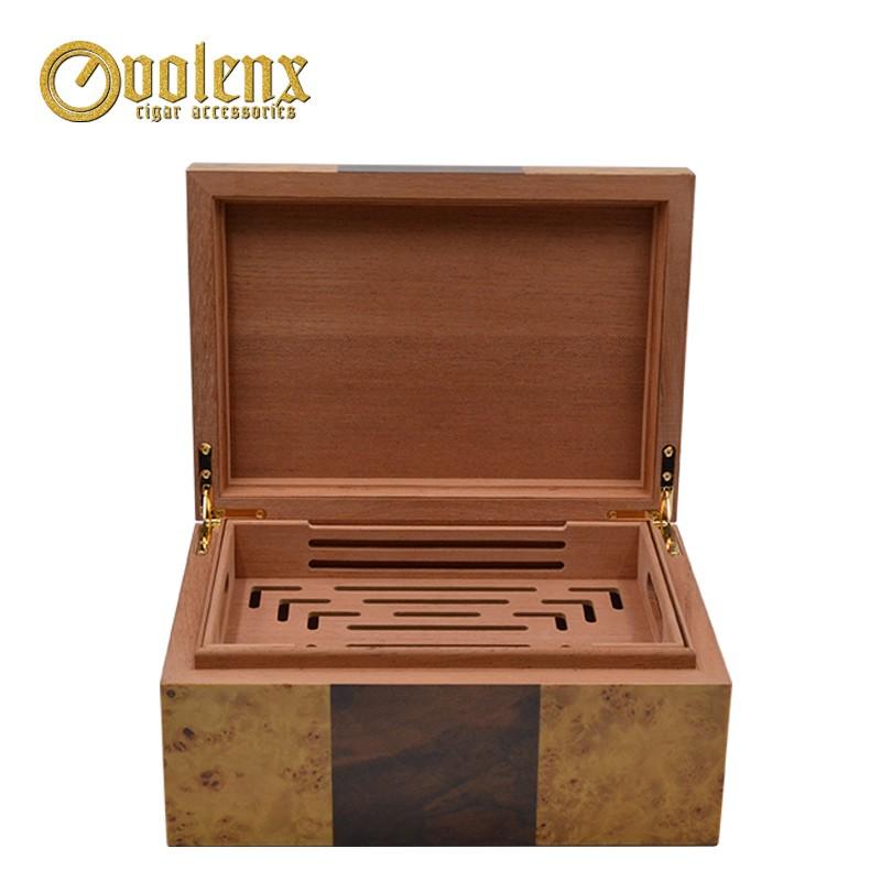 Cheap Wholesale Lacquer Cedar Cigar Humidor For Sale