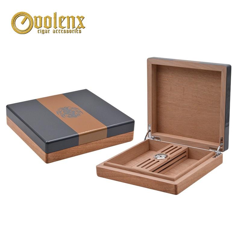 Luxury Carbon Fiber Cigar Humidor With Drawer Wooden Custom Humidor Box 3