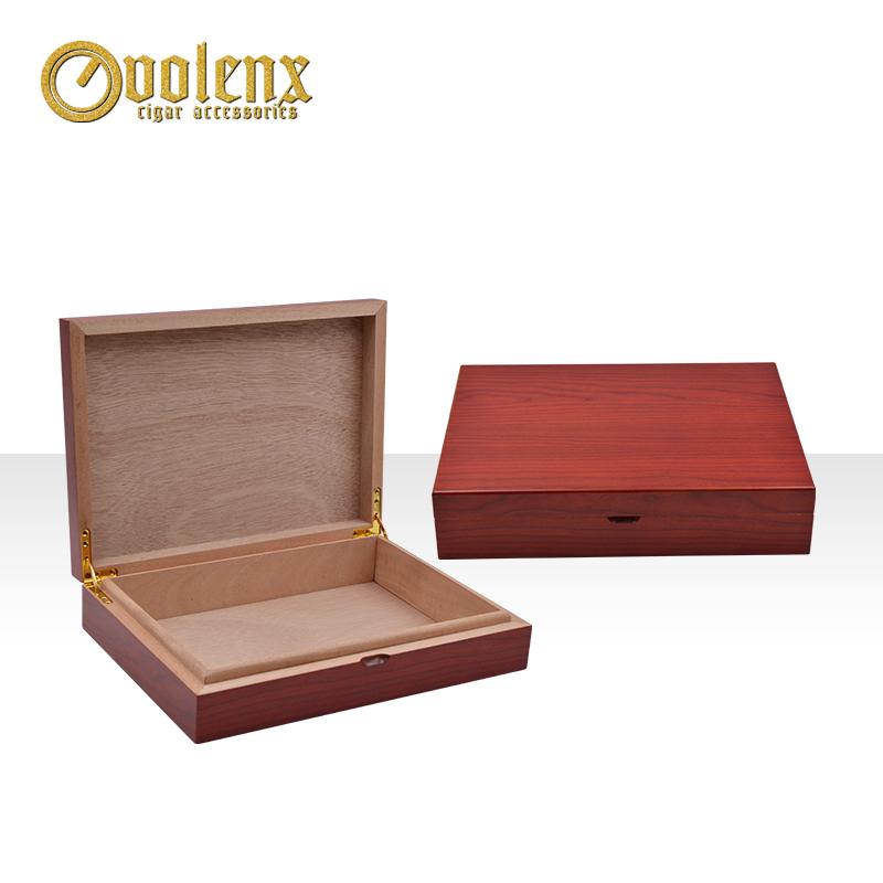 New design factory handmade small packaging cedar cigar box wood