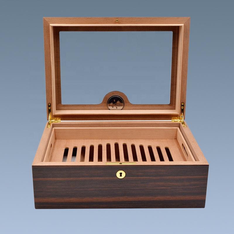 Wholesale-Luxury-Glass-Top-Wooden-Cigar-Humidor