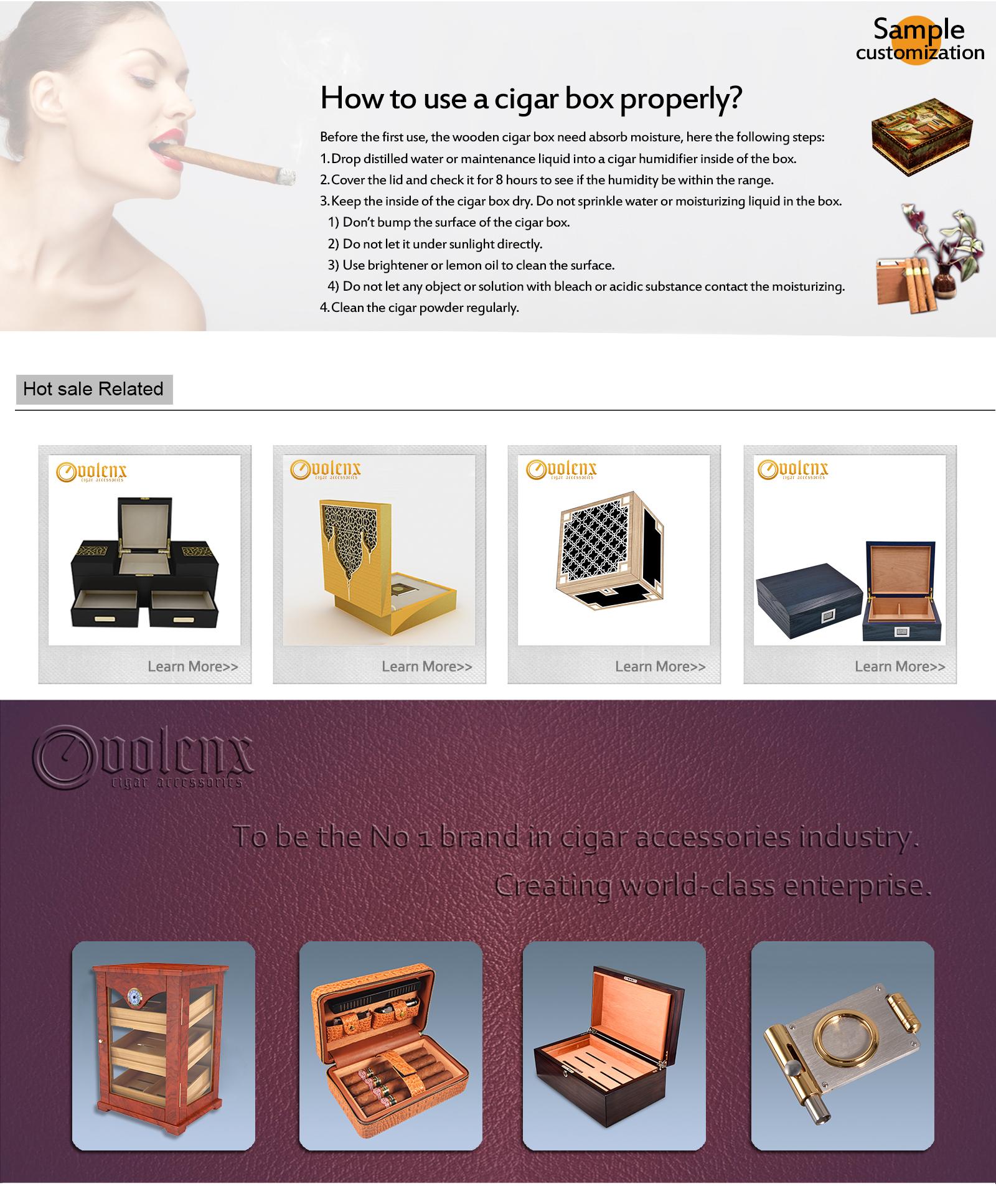 China factory 2018 new design top quality zebra wood cigar humidor 7