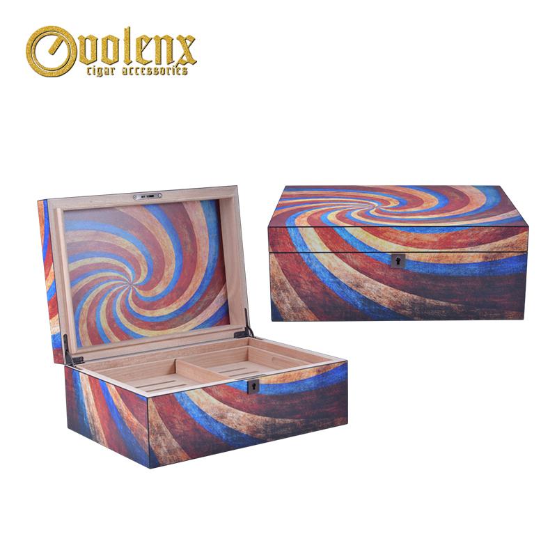 China Wooden Travel Humidor Box Custom Humidor Box With Lock
