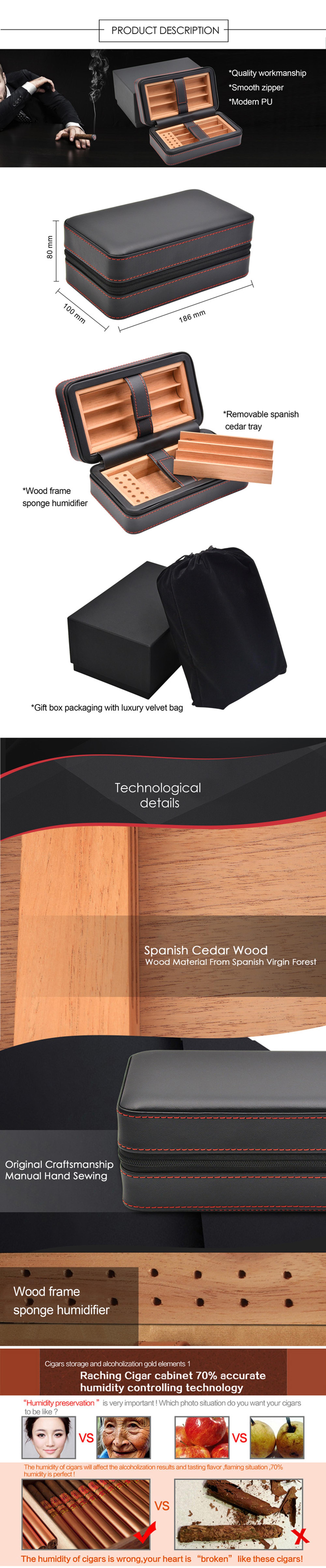 High Quality cigar case cedar