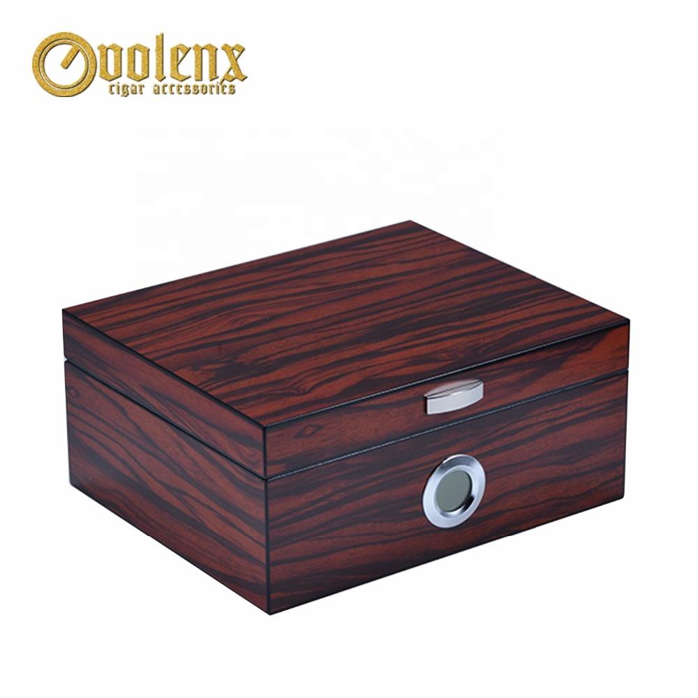 Custom-Hygrometer-Cuban-Ebony-Wooden-Cedar-Cigars