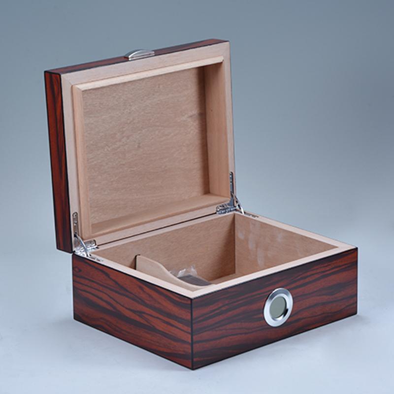 Custom Hygrometer Cuban Ebony Wooden Cedar Cigars Humidor 7