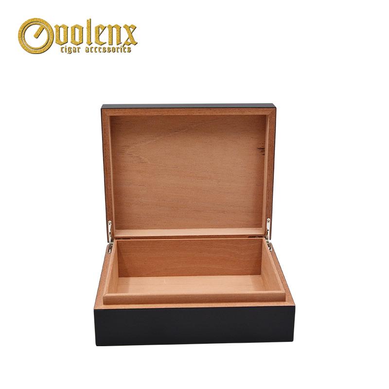 Custom-Black-Empty-Wooden-Cigar-Storage-Box
