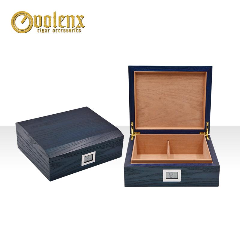 Antique-blue-handmade-custom-wooden-cigar-humidor
