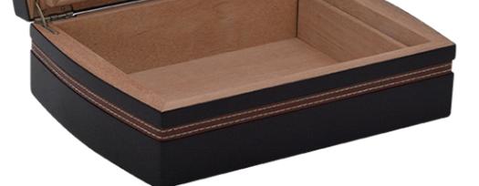Unique Design Mahogany Finished Humidor Box with Cigar Accessories 9