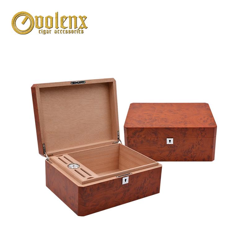 Factory Custom Design Custom Mahogany Cigar Humidor Wood
