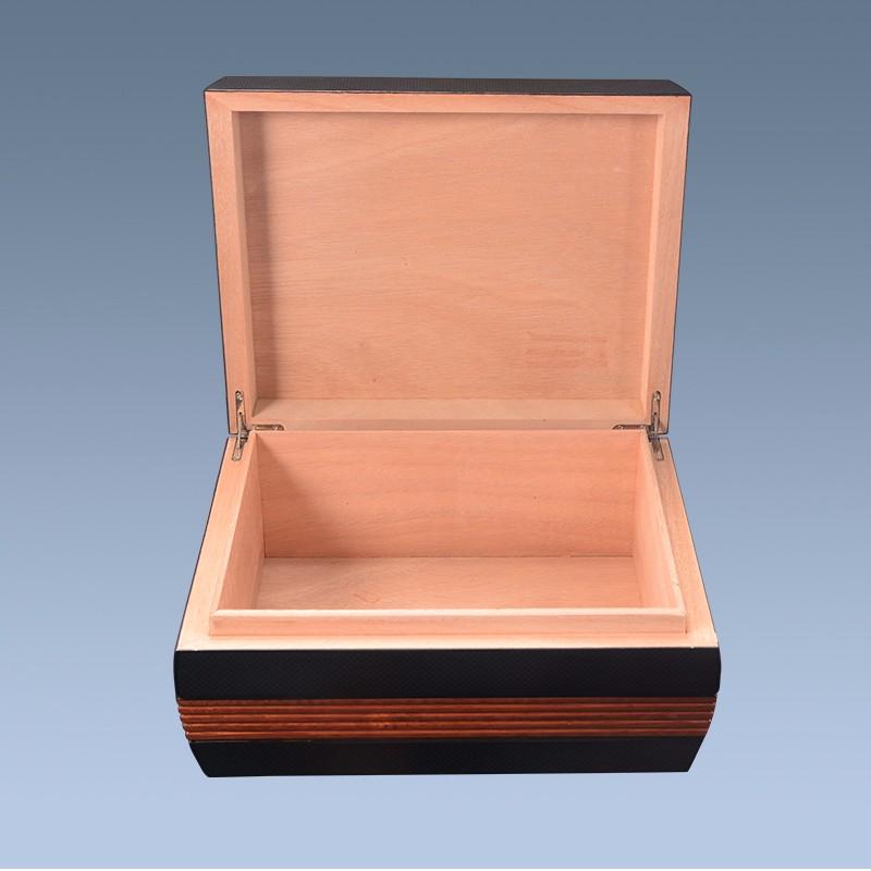 Custom Black Empty Wooden Cigar Box Packaging 3