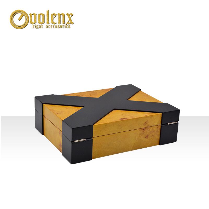 Custom-Wooden-Yellow-Empty-Cigar-Packaging-Box