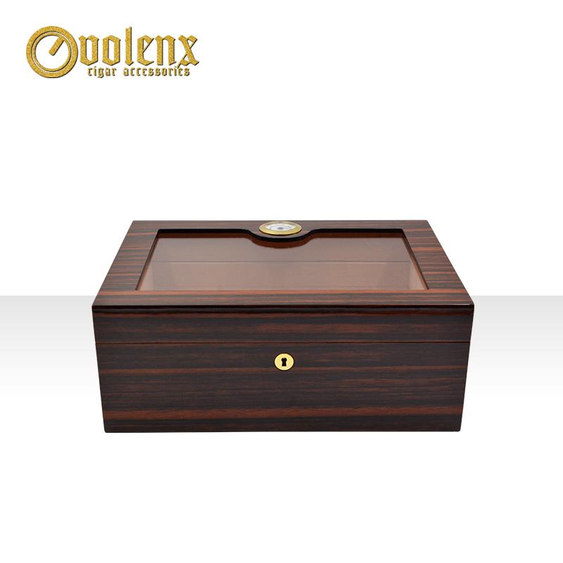 2019-Wholesale-luxury-plexiglass-wooden-cigar-humidor